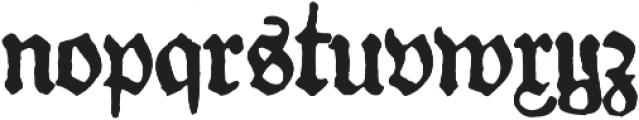 Gotyk nr7 otf (400) Font LOWERCASE