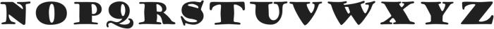 Goudy Stout ttf (400) Font UPPERCASE
