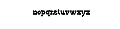 GO BOY.ttf Font LOWERCASE