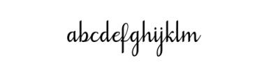 Goodbye Font LOWERCASE