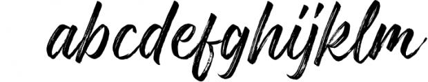 Gosthel - Dry Brush Font Font LOWERCASE