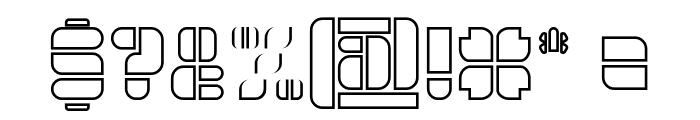 GOLDEN BAR-Hollow Font OTHER CHARS