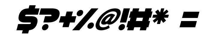 GoGo Hack Italic Font OTHER CHARS