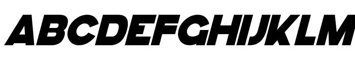 GoGo Hack Italic Font UPPERCASE