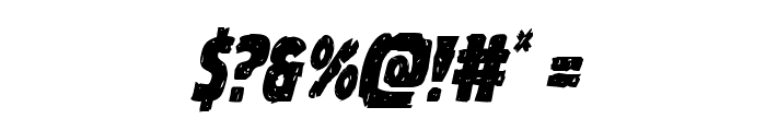 Goblin Creek Condensed Italic Font OTHER CHARS