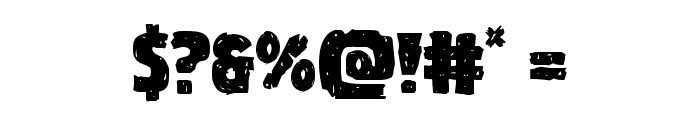 Goblin Creek Leaning Font OTHER CHARS