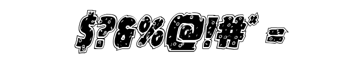 Goblin Creek Riddled Italic Font OTHER CHARS