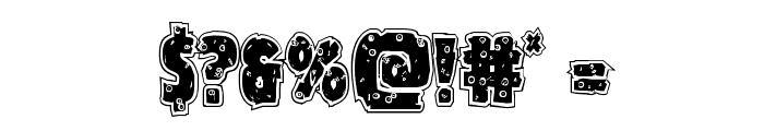 Goblin Creek Riddled Font OTHER CHARS