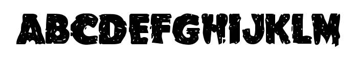 Goblin Creek Staggered Font UPPERCASE