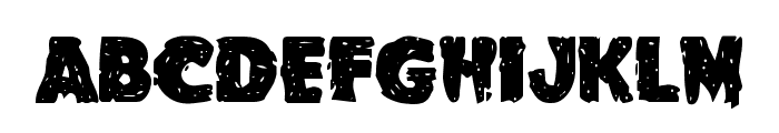 Goblin Creek Staggered Font LOWERCASE