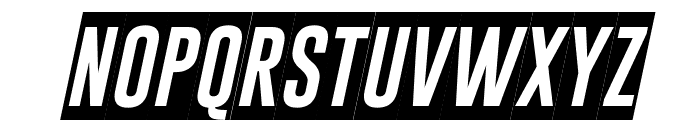 Gobold Blocky Italic Font UPPERCASE