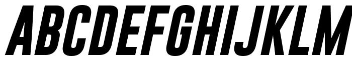 Gobold Bold Italic Font UPPERCASE