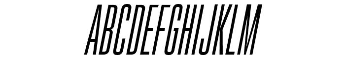 Gobold High Thin Italic Italic Font UPPERCASE