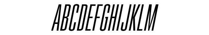 Gobold High Thin Italic Italic Font LOWERCASE