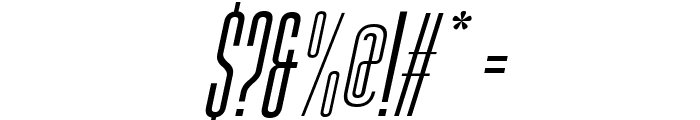 Gobold High Thin Italic Font OTHER CHARS