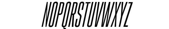 Gobold High Thin Italic Font UPPERCASE