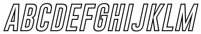Gobold Hollow Bold Italic Italic Font UPPERCASE