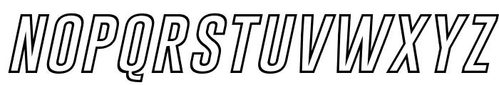 Gobold Hollow Bold Italic Italic Font LOWERCASE