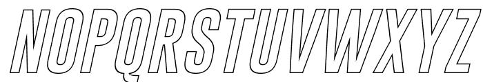 Gobold Hollow Italic Italic Font UPPERCASE