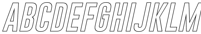 Gobold Hollow Italic Font UPPERCASE