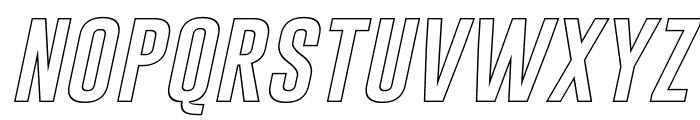 Gobold Hollow Italic Font LOWERCASE