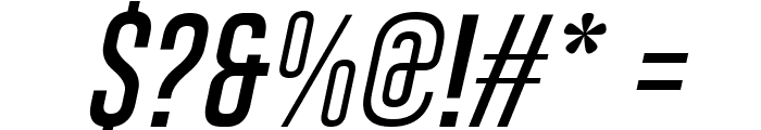 Gobold Thin Italic Font OTHER CHARS