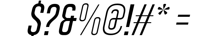 Gobold Thin Light Italic Font OTHER CHARS
