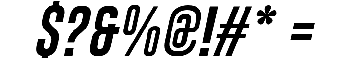 Gobold Uplow Italic Font OTHER CHARS