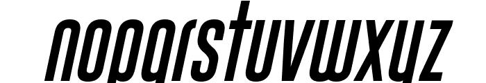 Gobold Uplow Italic Font LOWERCASE