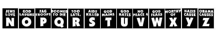 God Hates Westboro Font UPPERCASE