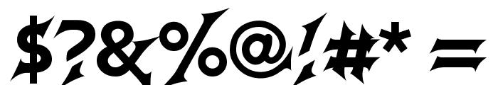 GodofThunder Font OTHER CHARS