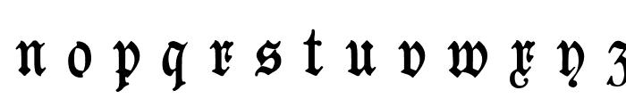 Goeschen Fraktur UNZ1A Italic Font LOWERCASE