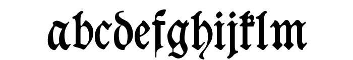 Goeschen Fraktur Font LOWERCASE