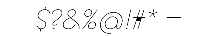 Goeslim Italic Font OTHER CHARS