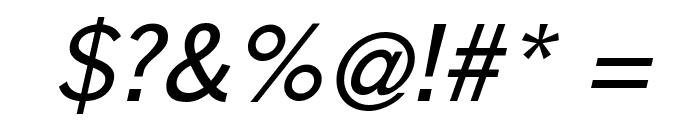 GoetheGothicOblique Font OTHER CHARS