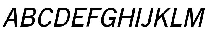 GoetheGothicOblique Font UPPERCASE