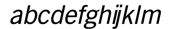 GoetheGothicOblique Font LOWERCASE