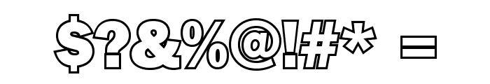 Goffik-Outline Font OTHER CHARS
