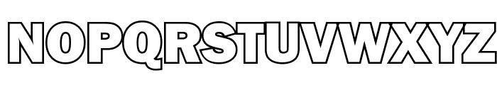 Goffik-Outline Font UPPERCASE