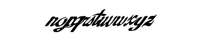 GoldFinger Font LOWERCASE