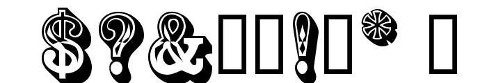 GoldRush Font OTHER CHARS