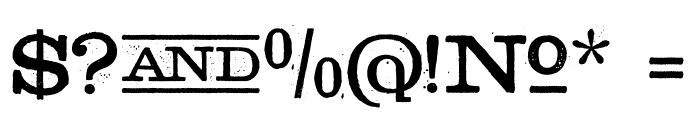 Golden Age Font OTHER CHARS