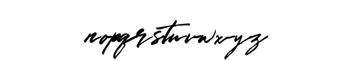 GoldenSignature Font LOWERCASE