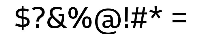 Goldman Sans Regular Font OTHER CHARS