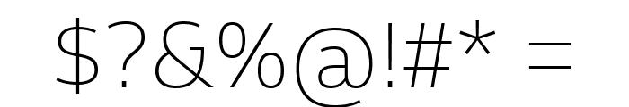 Goldman Sans Thin Font OTHER CHARS