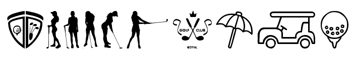 Golf Icons Font OTHER CHARS