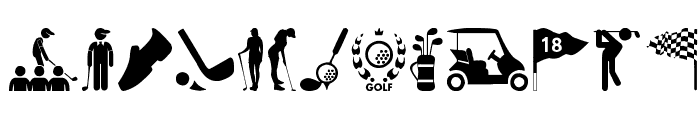 Golf Icons Font UPPERCASE