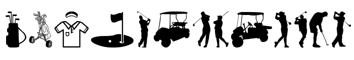 Golf Icons Font LOWERCASE