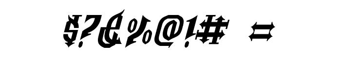 Golgotha Oblique E. Font OTHER CHARS