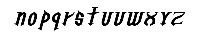 Golgotha Oblique E. Font LOWERCASE